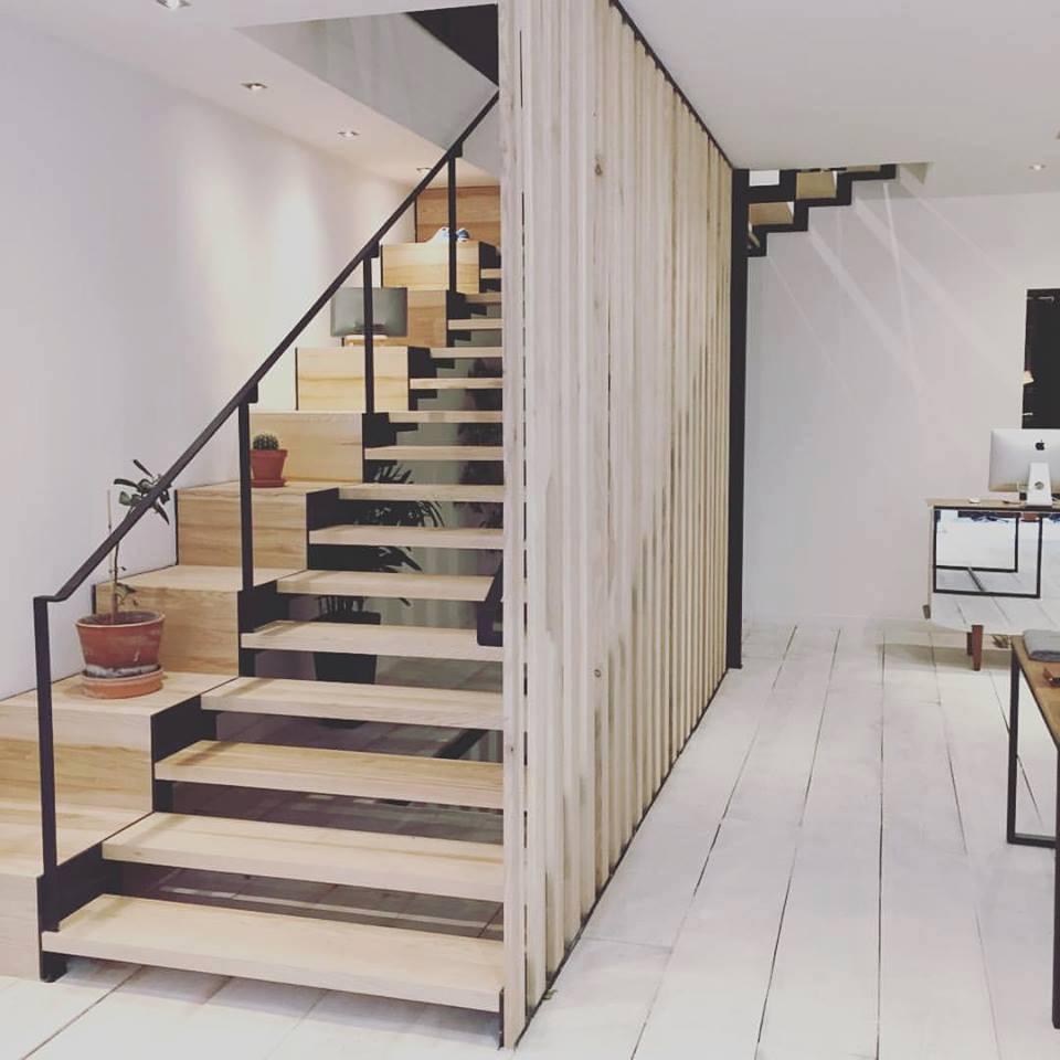 Escaliers acier - escalier contemporain sur mesure.