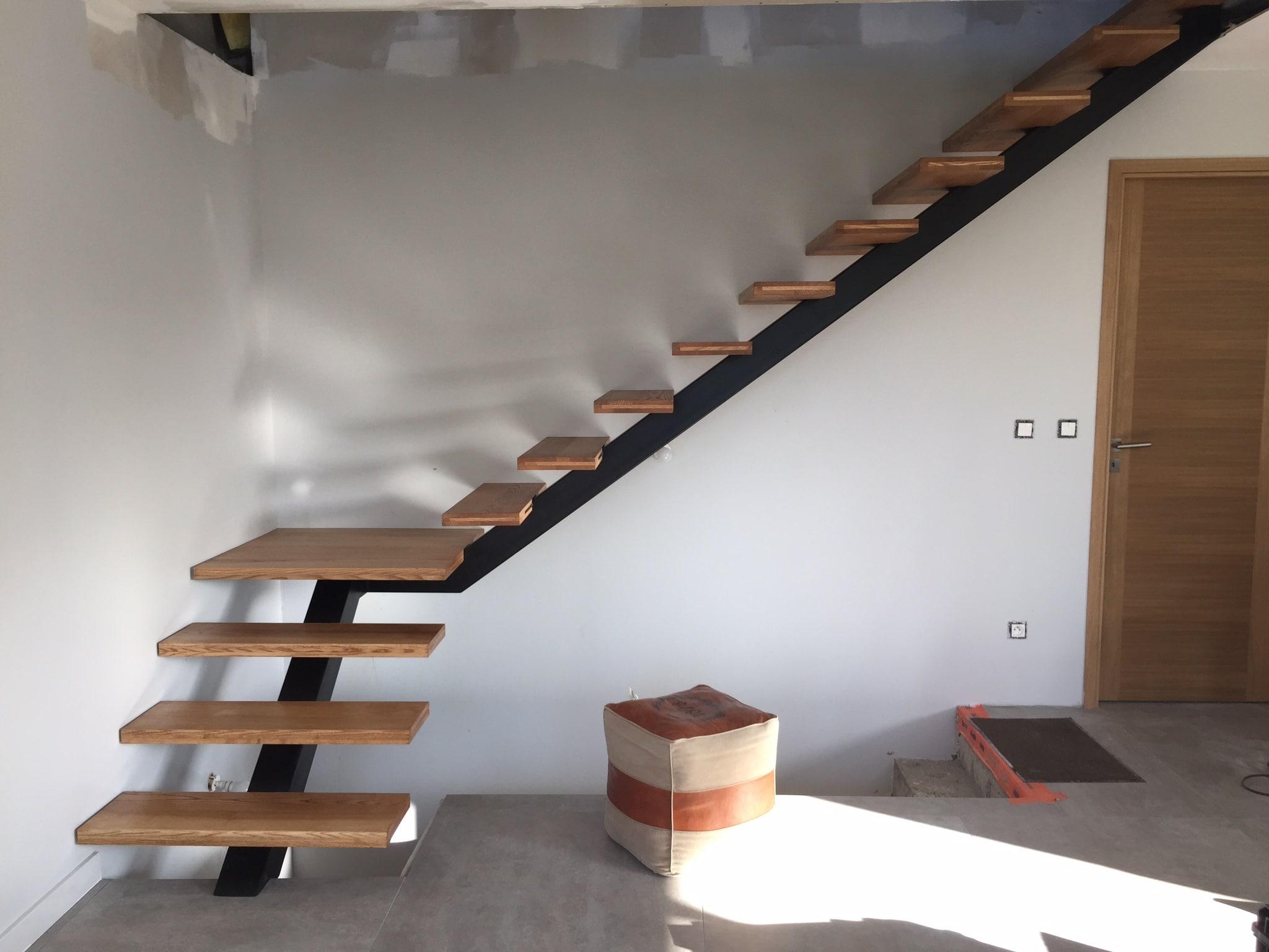 Sp cialiste en escaliers acier bois quart tournant dans le - Escalier fer et bois ...