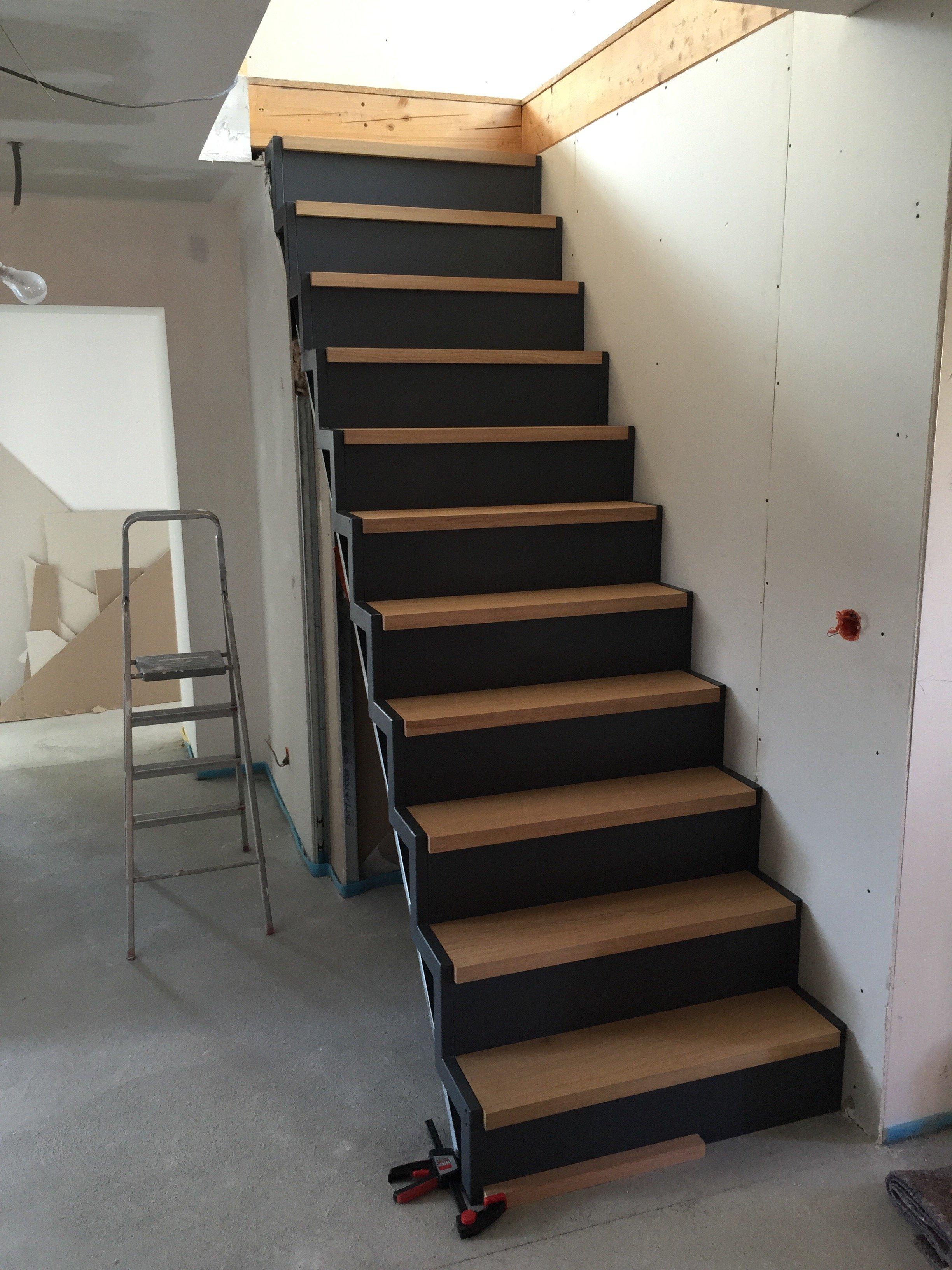 Escalier Bois Metal Noir tailacreaciones: escalier noir et bois
