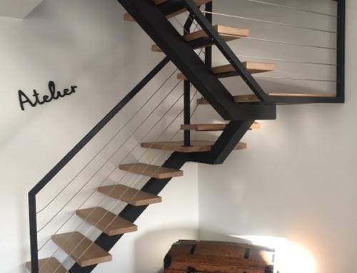 Réalisation d'un escalier acier bois dans l'Hérault – Languedoc Roussillon