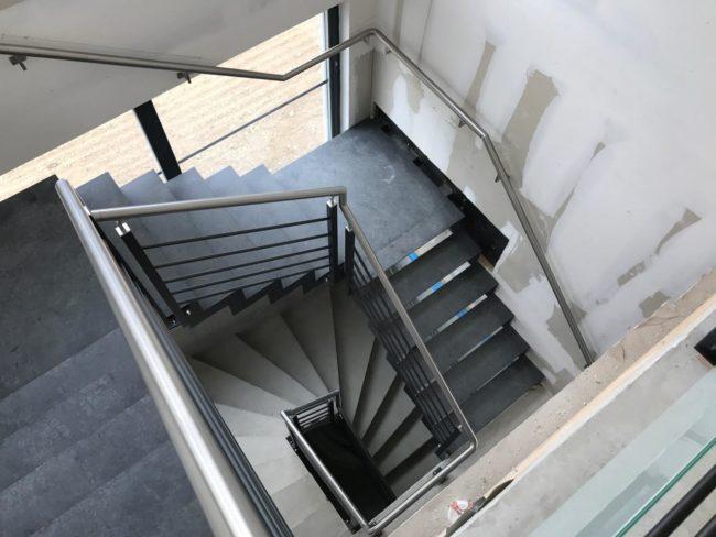 escalier acier Alsace
