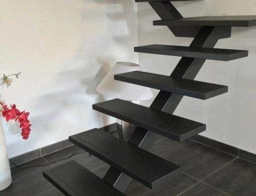 Escalier acier bois Nice (06)