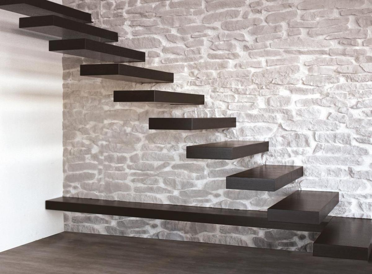 Escalier suspendu installé sur mesure- Palmarini