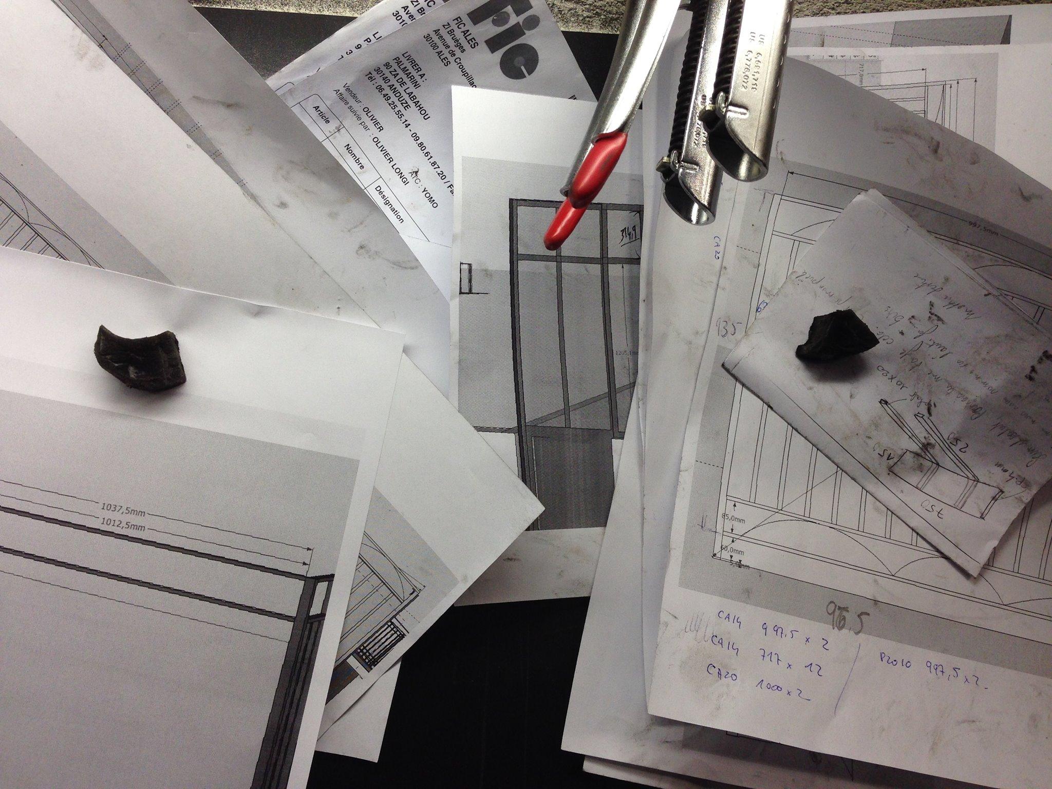 Plan 3D escalier design