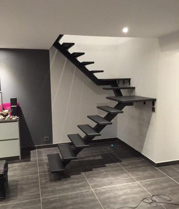 escaliers design, escaliers acier-bois, escaliers contemporains