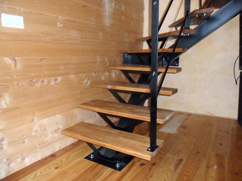 escalier acier-bois Alsace