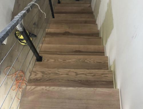 Réalisation d'un escalier acier bois en Ile de France  Escalier bois/acier contemporain et design en Alsace (Bas Rhin)