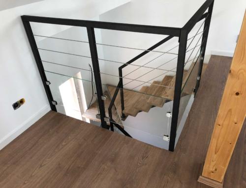 Réalisation d'un escalier acier bois à Nice Alpes maritimes