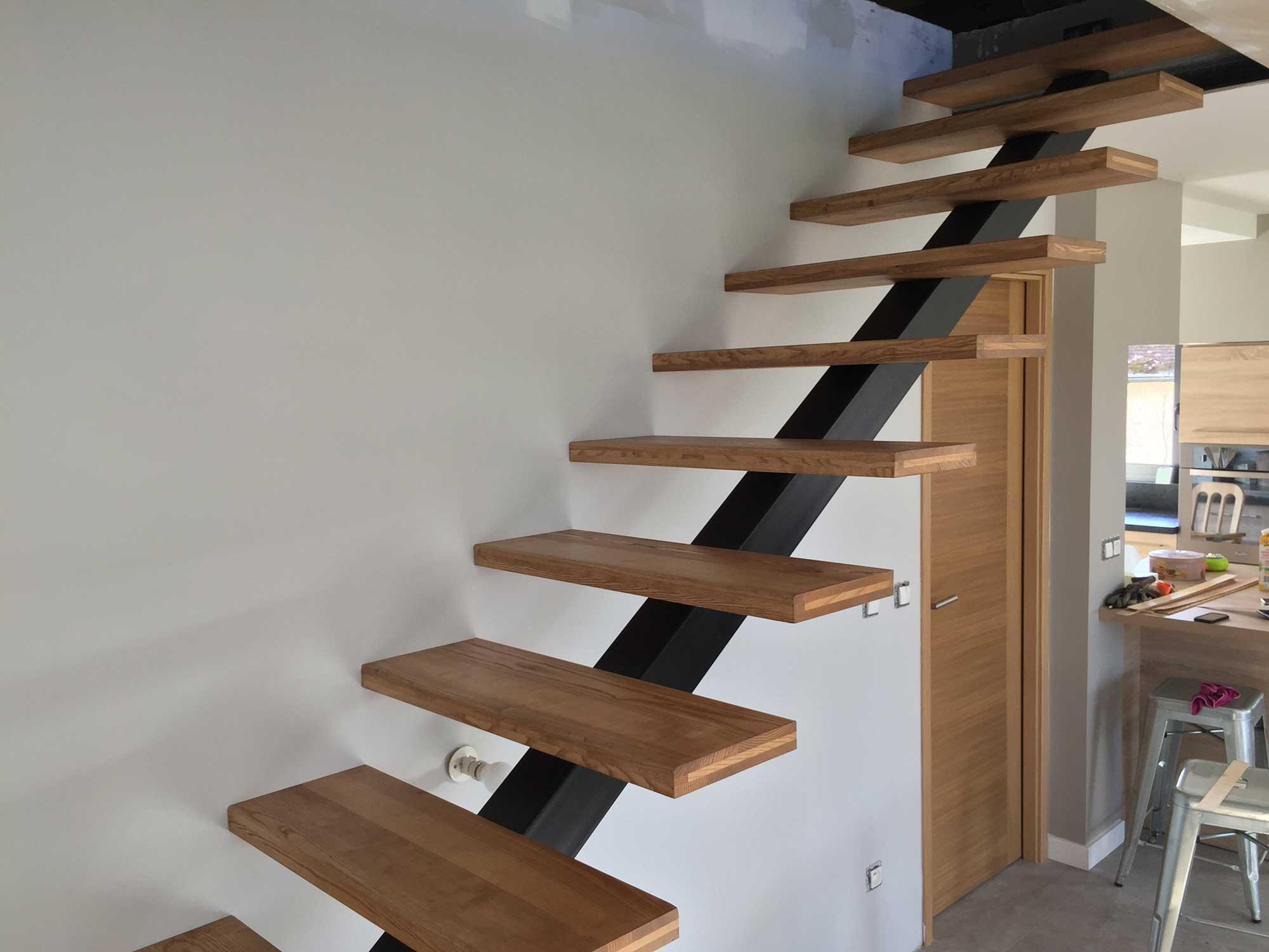 Escalier Bois Metal Noir création escalier design acier - acier/bois sur mesure
