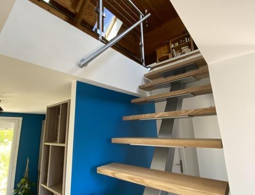 Escalier acier bois – Béziers (34)